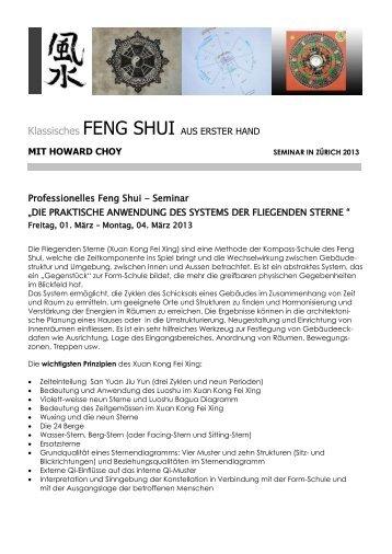 Anmeldeformular herunterladen - Everyday Feng Shui