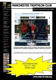 November 2002 - Manchester Triathlon Club