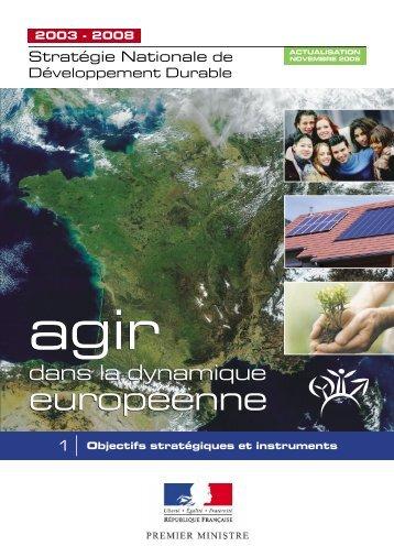Stratégie nationale de développement durable 2003 - 2008