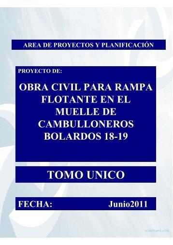 TOMO UNICO - Plataforma de Contratación del Estado