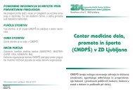 Center medicine dela, prometa in Ã…Â¡porta - Zdravstveni dom Ljubljana