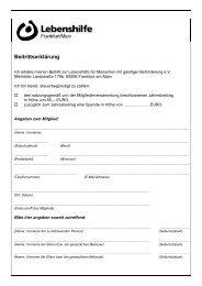 Beitrittserklärung - Lebenshilfe für Menschen mit geistiger ...