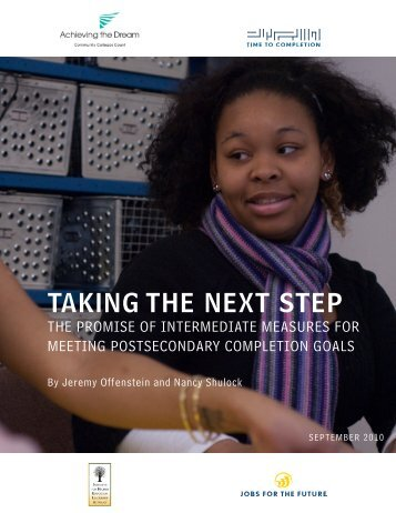 TAKING THE NEXT STEP - Jobs for the Future