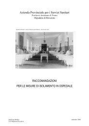 raccomandazioni per le misure di isolamento negli ospedali