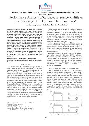 Performance Analysis of Cascaded Z-Source Multilevel Inverter ...