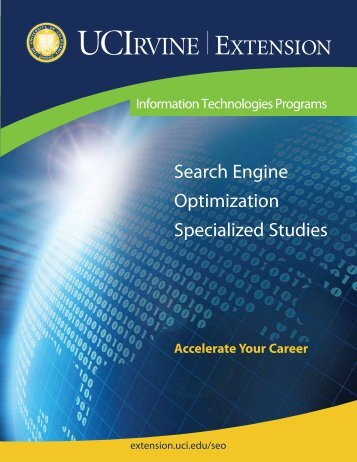 Search Engine Optimization Specialized Studies - UC Irvine Extension