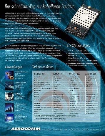 PARAMETER AC4424–10 AC4424–100 ... - wireless world AG