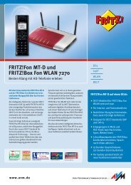 FRITZ!Fon MT-D und FRITZ!Box Fon WLAN 7270 - Mercateo