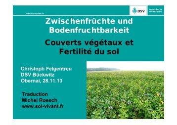 Couverts végétaux et Fertilité des sols - SOL VIVANT