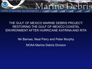 THE GULF OF MEXICO MARINE DEBRIS PROJECT - Restore ...