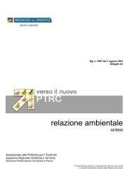 all.A3 relazione ambientale - PTRC Piano Territoriale Regionale di ...