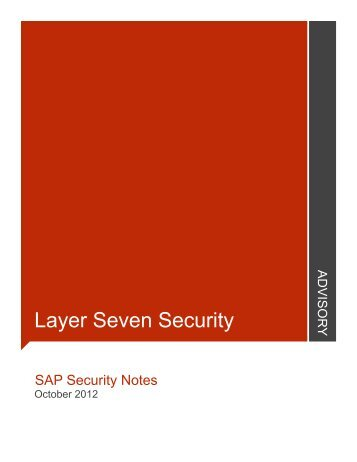 October - Layer Seven Security