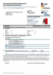 01 Anmeldung Excon 2013 - Leipziger Messe International