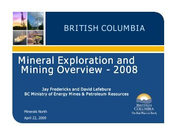Mineral-Exploration-and-Mining-Overview-2008 - Minerals North