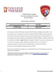 COD-Public Safety Academy Fire Academy Application Information ...