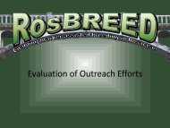 Evaluation of Outreach Efforts by RosBREED