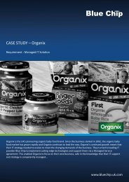 CASE STUDY – Organix - Blue Chip - Uk.com