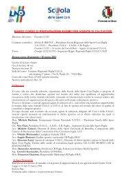 BANDO CORSO DI PREPARAZIONE ESAME PER ... - Coni Puglia