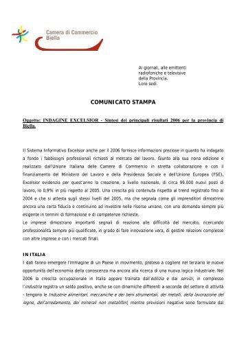 Sintesi dei principali risultati 2006 per la provincia di Biella