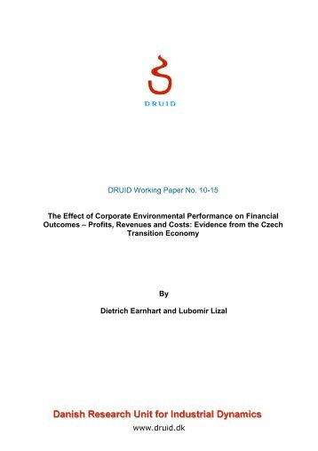 The Effect of Corporate Environmental Performance on Financial ...