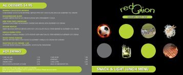 snack & light lunch menu snack & light lunch menu - Liberation Group