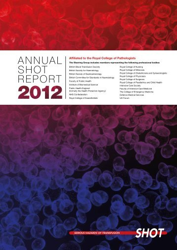 SHOT Annual Report 2012 - Serious Hazards of Transfusion