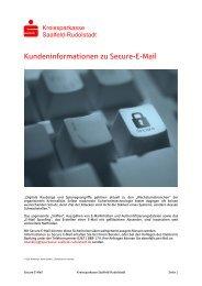 Secure E-Mail – Notwendigkeit - Kreissparkasse Saalfeld-Rudolstadt