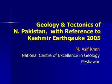 Geology & Tectonics of N. Pakistan, with Reference to Kashmir ...