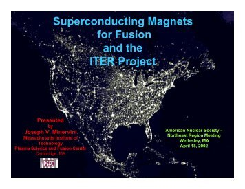 Superconducting Magnets - American Nuclear Society