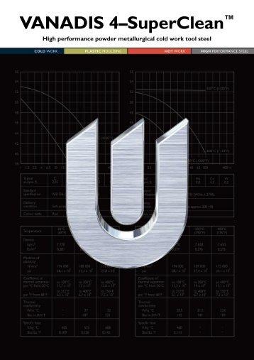 VANADIS 4–SuperClean™ - Uddeholm