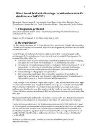protokoll från möte 21/5 2013 - Svensk Biblioteksförening