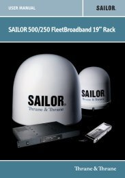 "saIlOr500/250 FleetBroadband 19"" rack"
