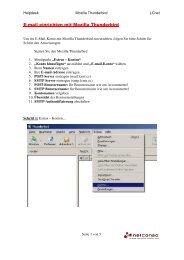 E-mail einrichten mit Mozilla Thunderbird - Lcnet.cc
