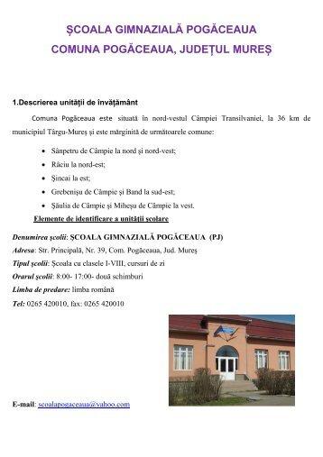 Școala Gimnazială Pogăceaua - Inspectoratul Şcolar Judeţean Mureş