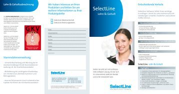 Download Flyer: SelectLine Lohn & Gehalt - Layer 2 GmbH