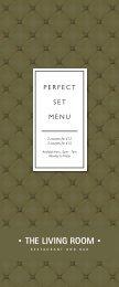 Open Perfect Set Menu - GuestlistSPOT.com