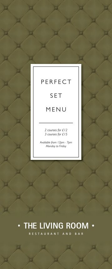 Private Party Set Menu (Sample) - Michael Deane
