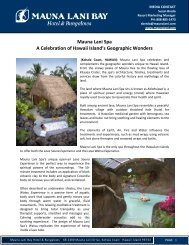 VIEW PDF - Mauna Lani Resort