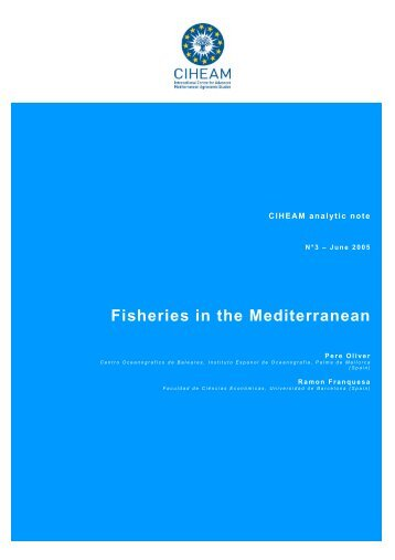 Fisheries in the Mediterranean