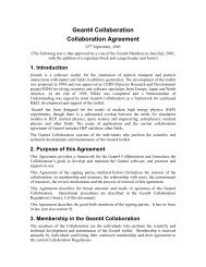 Geant4 Collaboration Collaboration Agreement - CERN