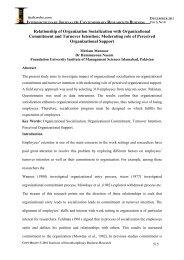 Relationship of Organization Socialization with Organizational ...