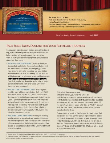 Newsletter 2nd Quarter 2012 - City of Los Angeles Personnel ...