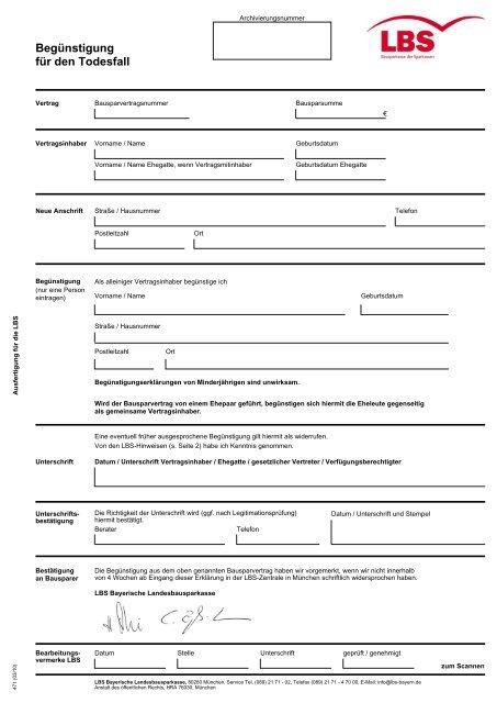 Richtig ausfüllen antrag auf lbs wohnungsbauprämie Staatliche Förderungen