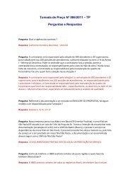 Perguntas e Respostas sobre este Edital - FFM