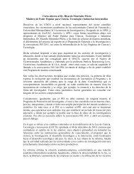 Carta abierta al Dr. Ricardo Menéndez Prieto - Investigación y ...