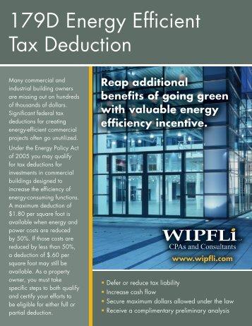 179D Energy Efficient Tax Deduction - Wipfli