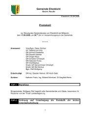 Gemeinderatssitzung vom 17.09.2008 (88 KB) - .PDF - Ehenbichl