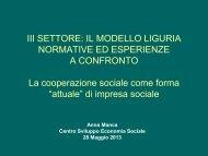 di impresa sociale - Liguria