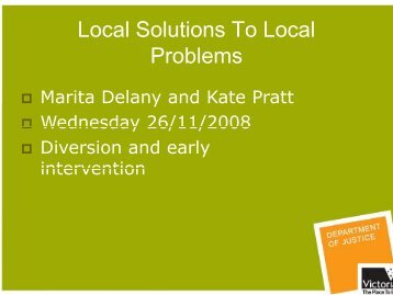 Local Solutions To Local Problems