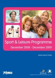 ArenaSiteBrochure - Surrey Heath Borough Council